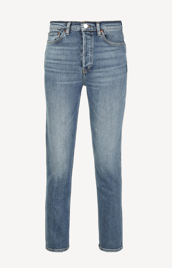 Jeans Comfort Stretch Slim Straight in Sunlit IndigoRE/DONE - Anita Hass