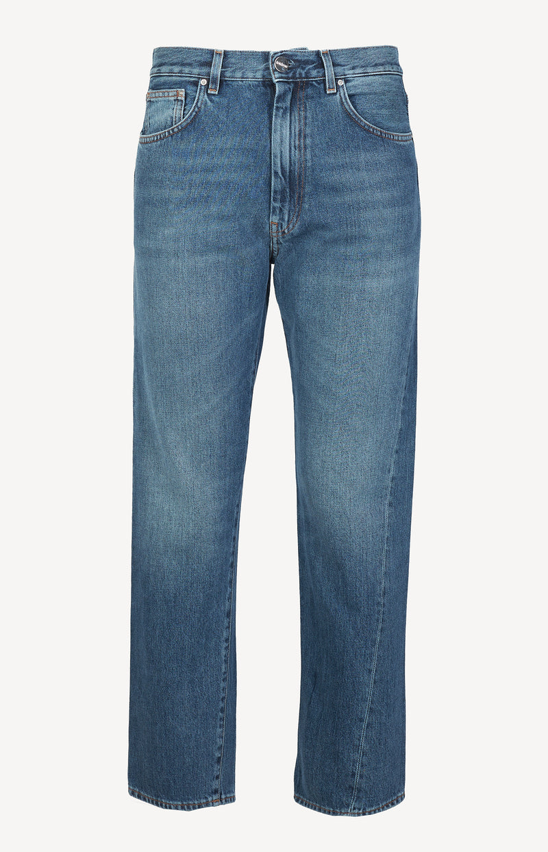 Jeans Twisted Seam in Washed Bluetotême - Anita Hass