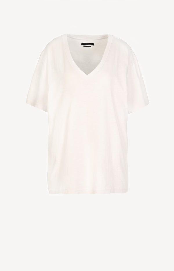 T-Shirt Landy in EcruIsabel Marant - Anita Hass