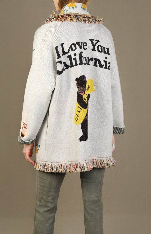Cardigan I Love U California in Weiß/MulticolorAlanui - Anita Hass