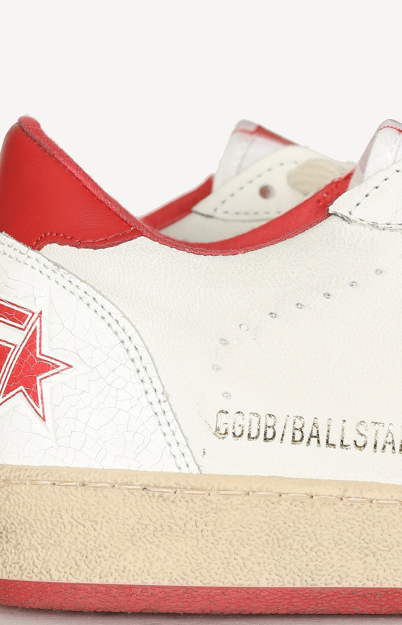 Sneaker Ball Star in White/Strawberry RedGolden Goose - Anita Hass