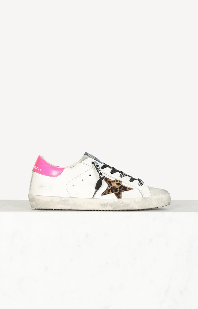 Sneaker Superstar Classic in Ice/White/Leo/FuchsiaGolden Goose - Anita Hass