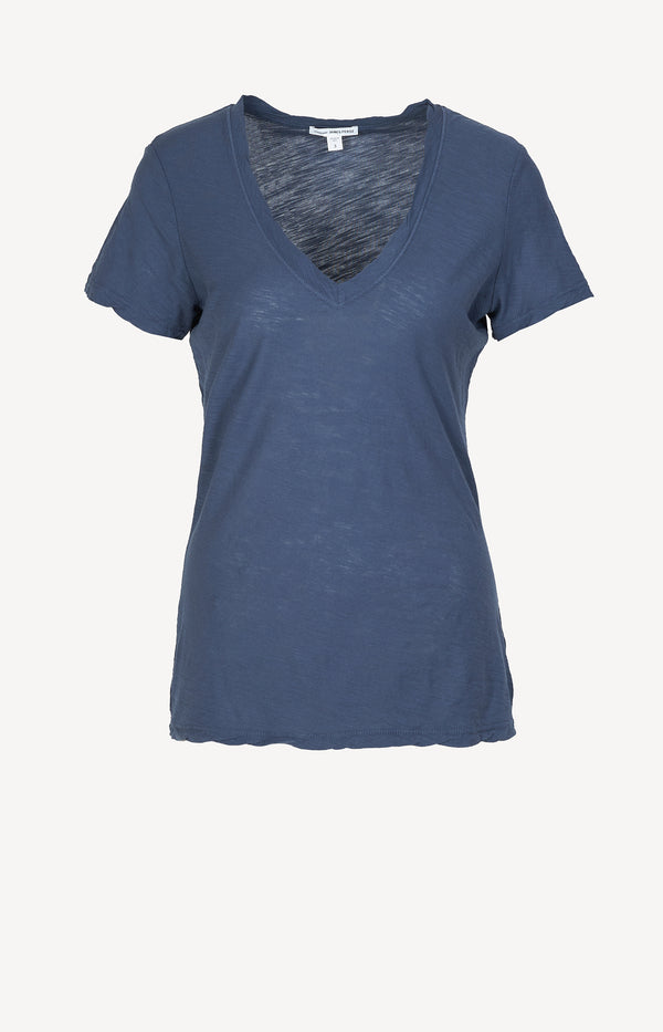 T-Shirt Casual in Sea CaptainJames Perse - Anita Hass