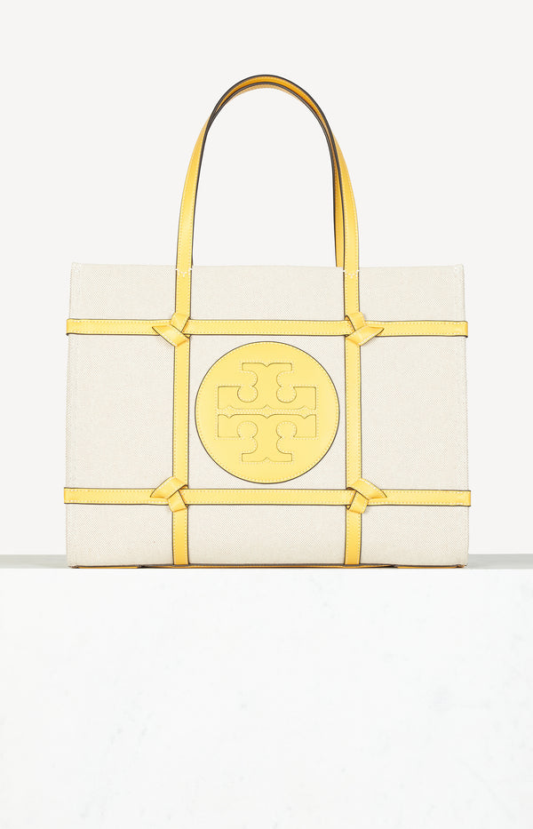 Tasche Ella Canvas Quadrant Knot in Natural/GoldfinchTory Burch - Anita Hass