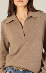 Kaschmirpullover Polo in Heather ChestnutVince - Anita Hass