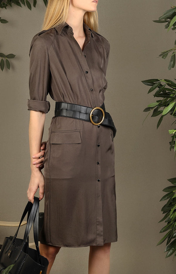 Military-Kleid in KhakiTom Ford - Anita Hass