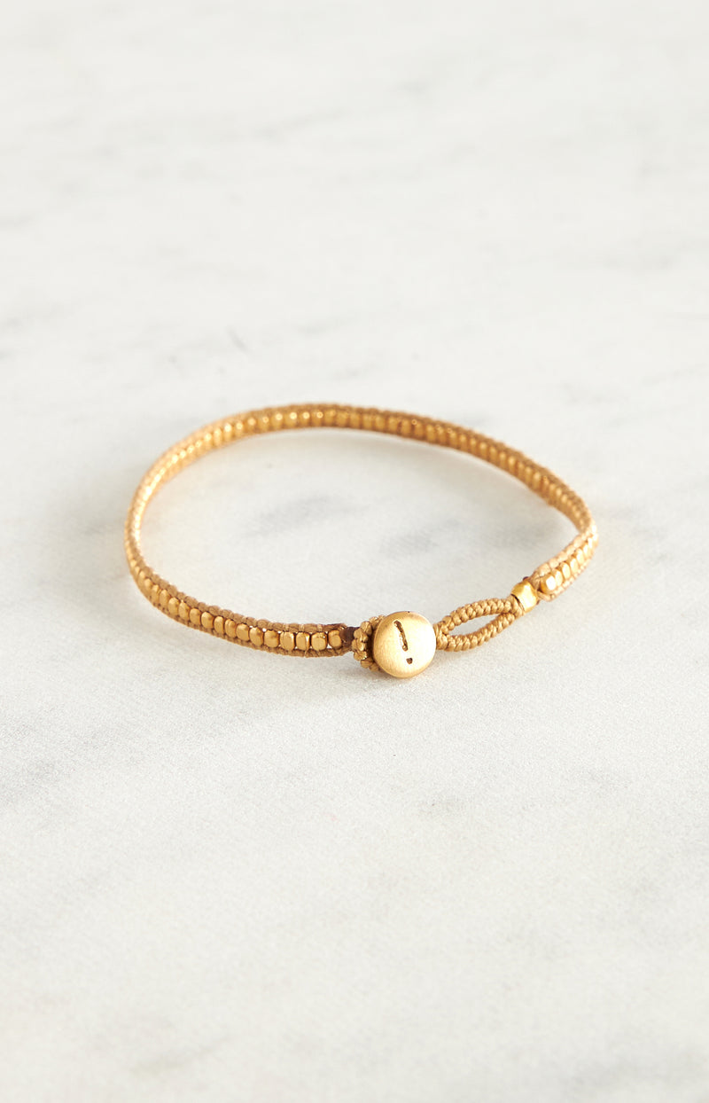 Armband Jill Gold in BeigeIbu Jewels - Anita Hass