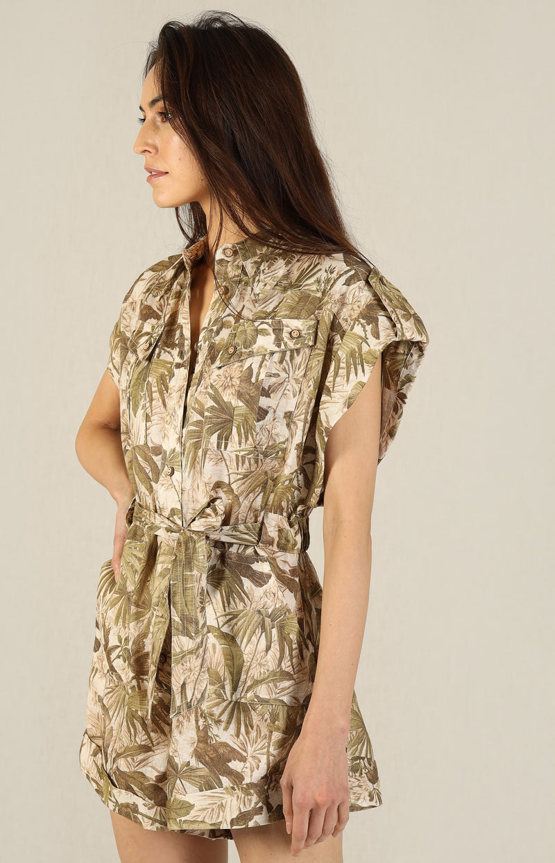 Playsuit Brighton in Khaki PalmZimmermann - Anita Hass