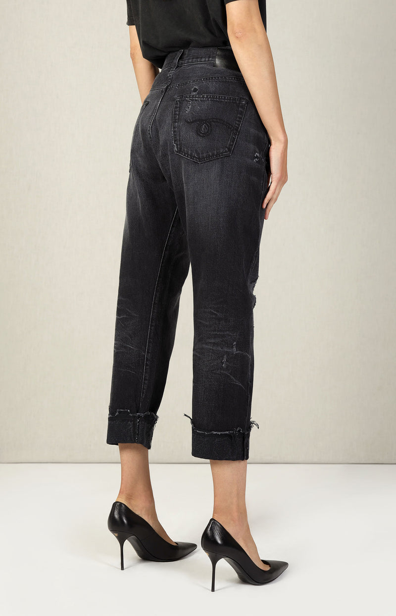 Jeans Cross Over in Jake BlackR13 - Anita Hass