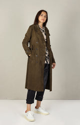 Trench Abigail in Army Green