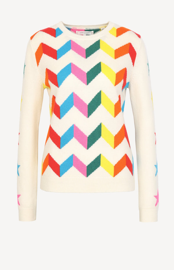 Pullover Chevron in Cream/MultiChinti and Parker - Anita Hass