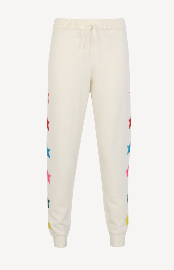 Trackpants Ski Star in Cream/MultiChinti and Parker - Anita Hass