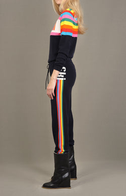 Trackpants Ski Stripe in Navy/MultiChinti and Parker - Anita Hass