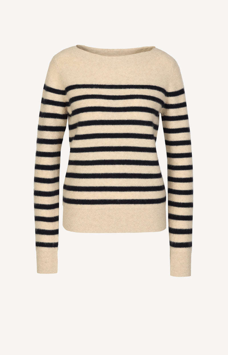 Pullover Breton Striped in Almond/CoastalVince - Anita Hass