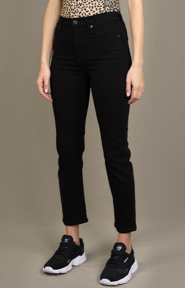 Jeans Harlow Ankle Mid Rise Slim in Plush BlackCitizens of Humanity - Anita Hass