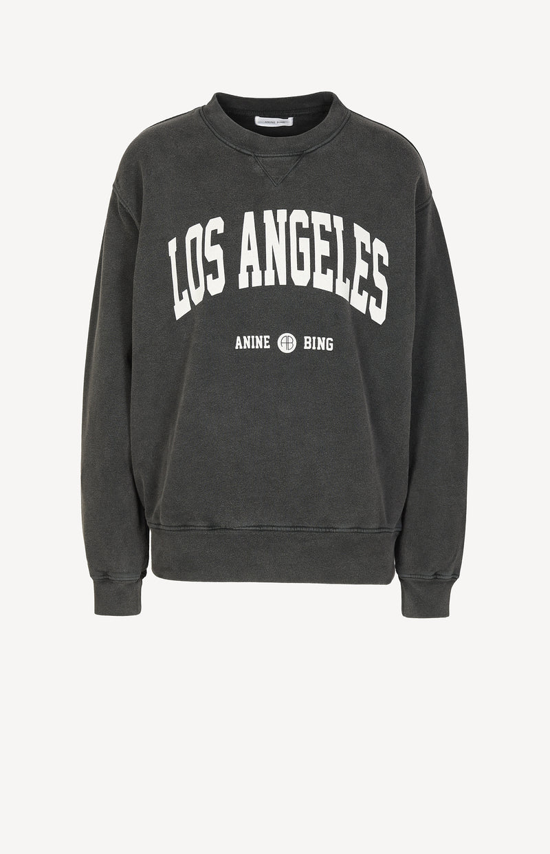 Sweatshirt Ramona Los Angeles in Washed BlackAnine Bing - Anita Hass