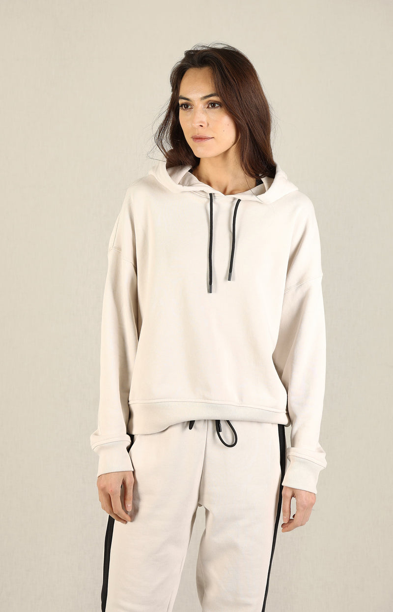 Hoodie French Terry in Tan ComboAnthony Thomas Melillo - Anita Hass