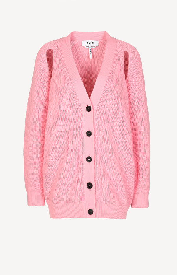 Cardigan mit Cut-Outs in PinkMSGM - Anita Hass