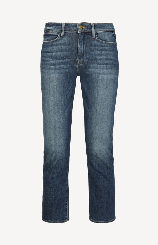 Jeans Le High Straight in BestiaFrame Denim - Anita Hass