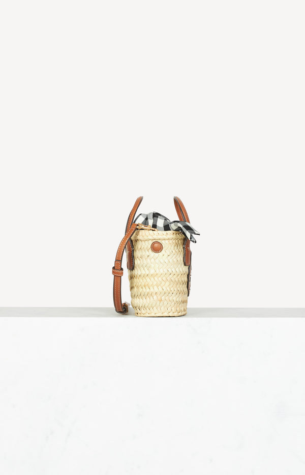 Tasche Ella Straw Micro in Natural/Classic CuoioTory Burch - Anita Hass