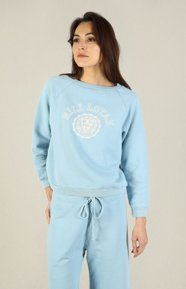 Pullover Crest in Light BlueNili Lotan - Anita Hass