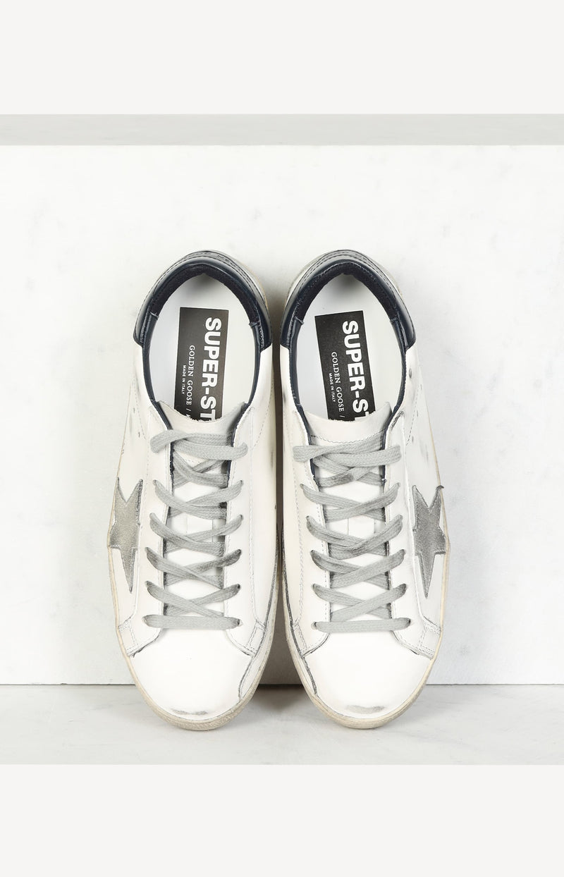 Sneaker Superstar Classic in White/Ice/Night BlueGolden Goose - Anita Hass