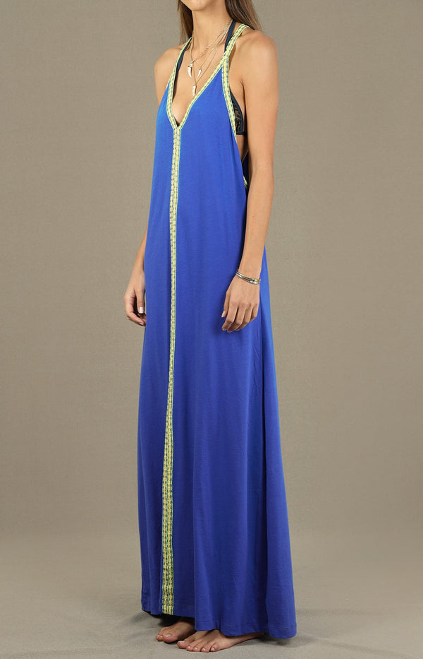 Kleid Solid Inca Sundress in Neon BluePitusa - Anita Hass