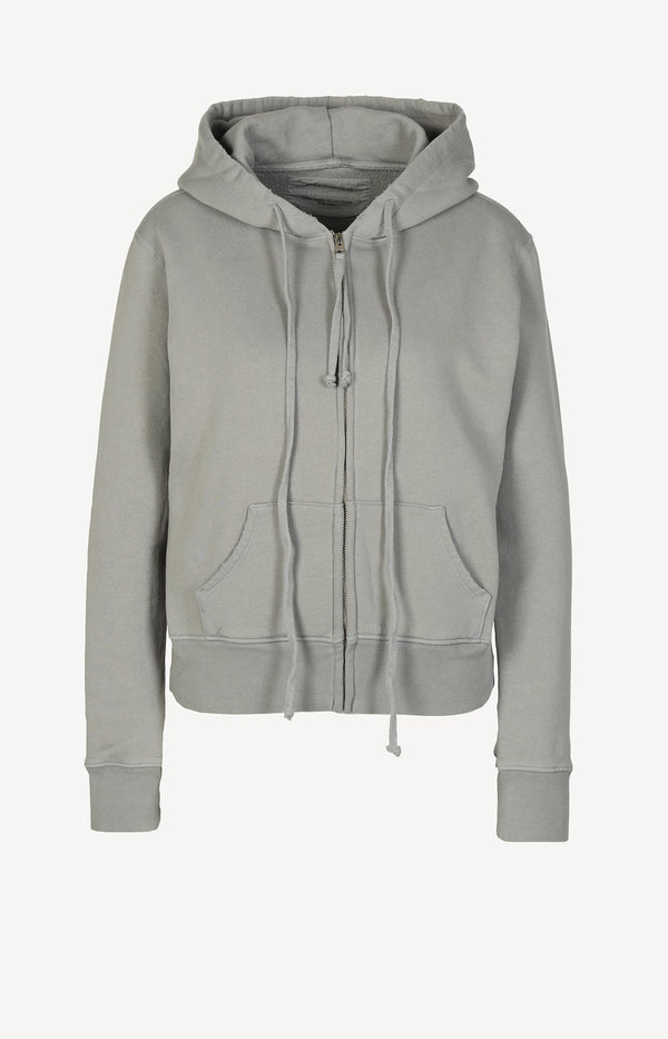 Hoodie Callie Zip Up in Cloud GreyNili Lotan - Anita Hass