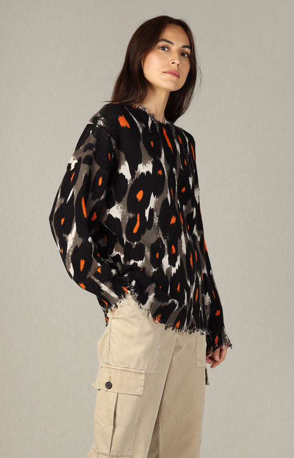 Oversized Sweater in LeopardR13 - Anita Hass