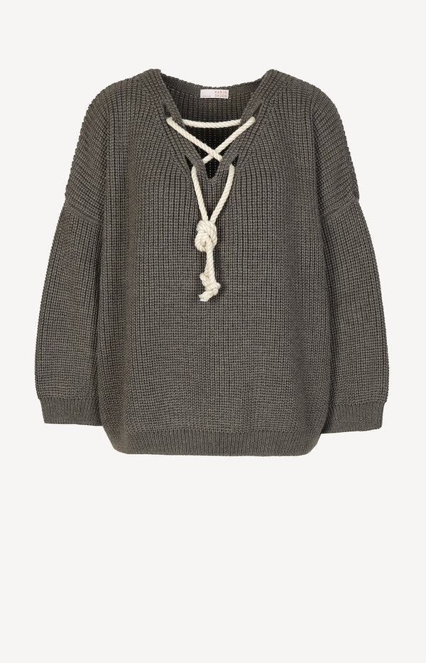 V-Neck Pullover in Grey DiffuseKarin Rocke - Anita Hass