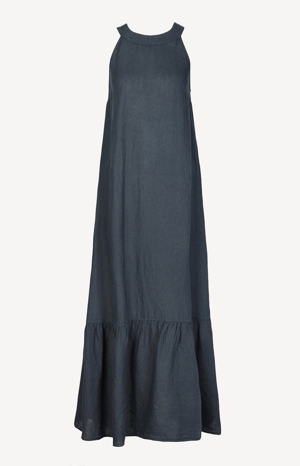 Maxikleid in Blue Navy120 % Lino - Anita Hass