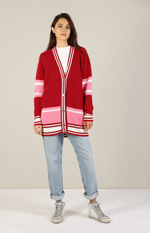 Cardigan Dixie College in Rot/PinkGolden Goose - Anita Hass