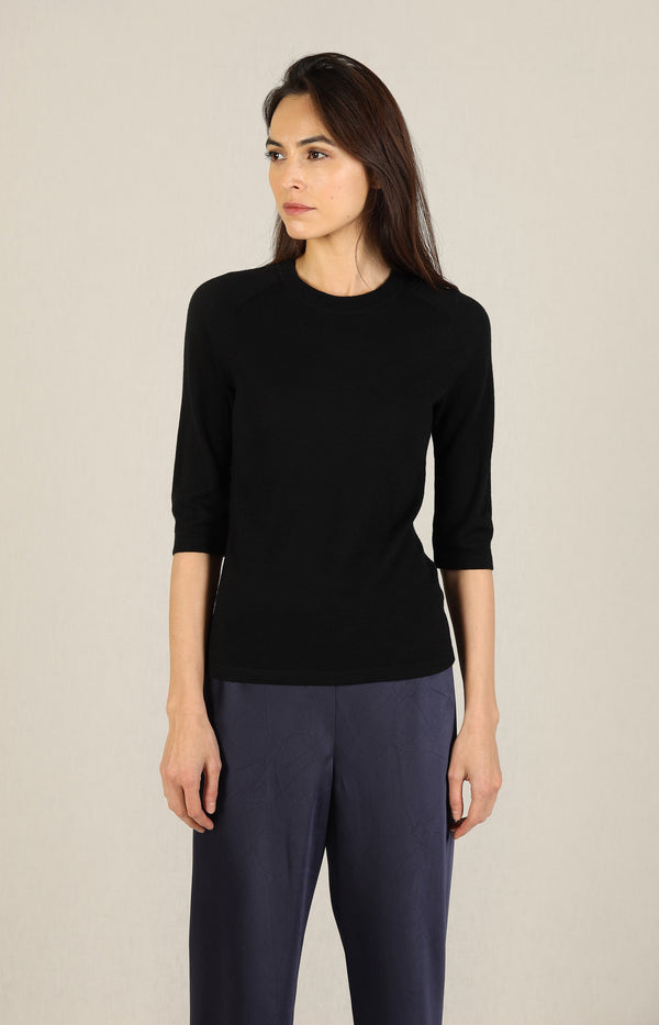 Shirt Elbow Sleeve in SchwarzVince - Anita Hass
