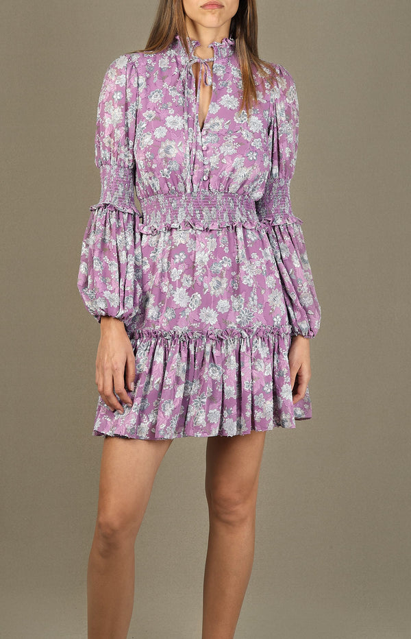 Kleid Rosewell in Lilac Floral