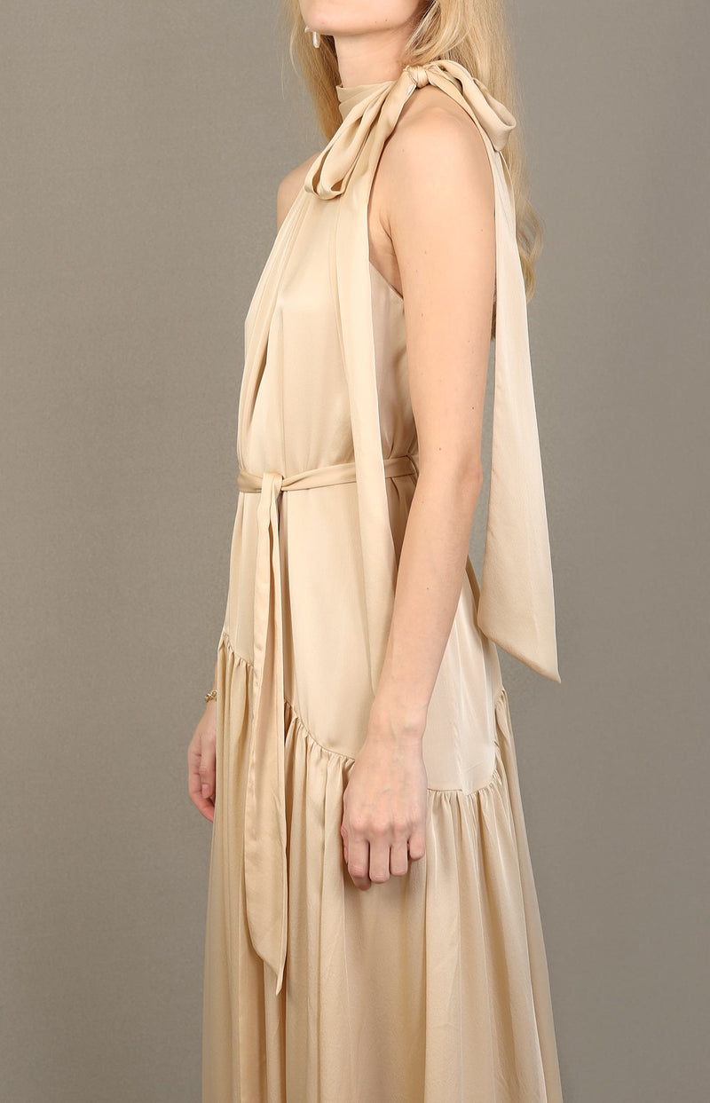 Silk Swing Maxi Dress in ChampagneZimmermann - Anita Hass