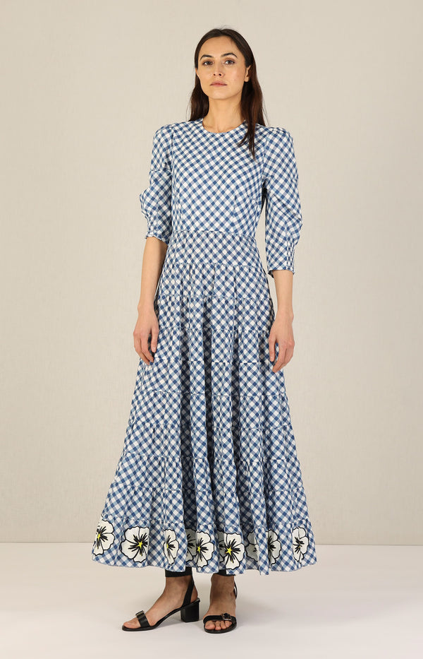 Kleid Kristen in Big Gingham/NavyRixo - Anita Hass