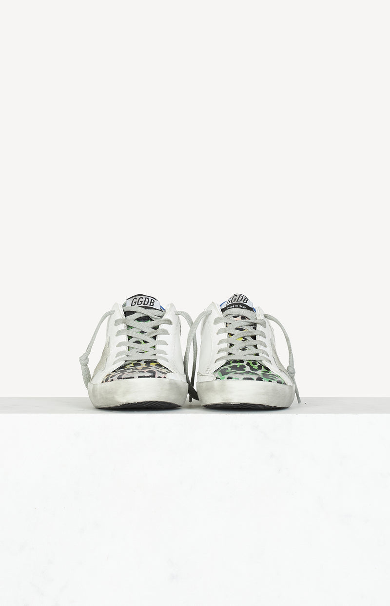 Sneaker Superstar Classic in White/Silver/LeoGolden Goose - Anita Hass