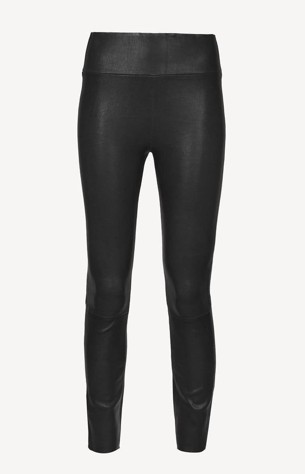 Lederleggings High Waist Ankle in SchwarzSPRWMN - Anita Hass