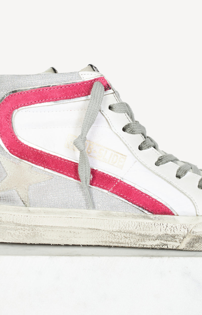 Sneaker Slide Classic in White/Silver/PinkGolden Goose - Anita Hass