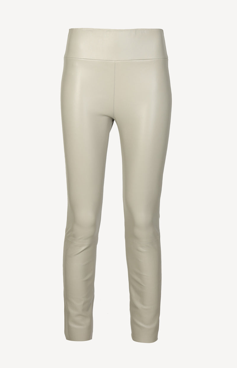 Lederleggings High Waist Ankle in StoneSPRWMN - Anita Hass
