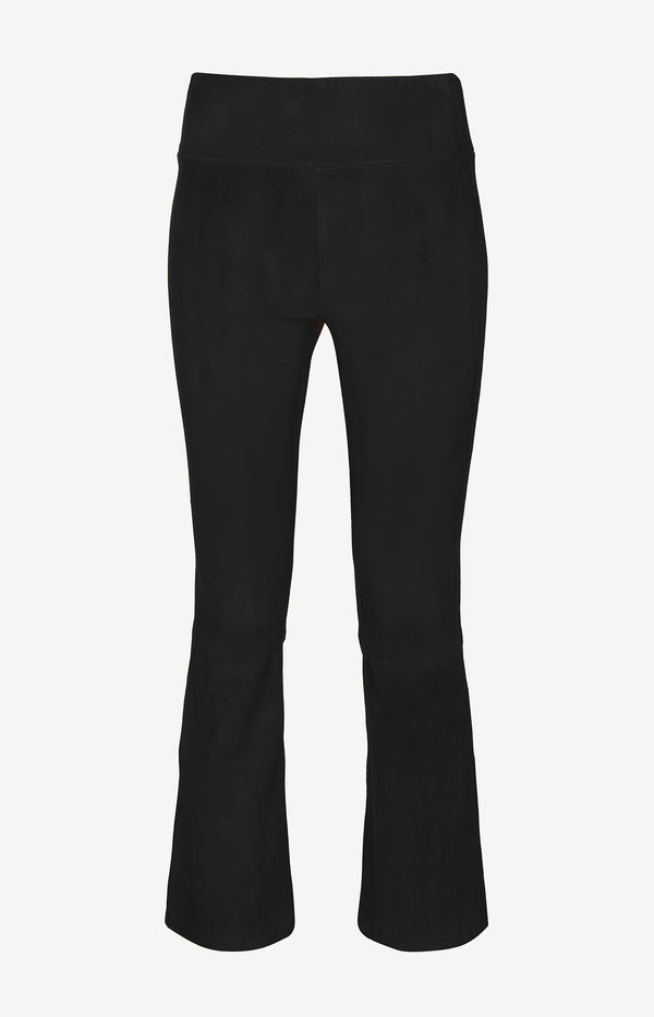 Lederleggings High Waist Flare in SchwarzSPRWMN - Anita Hass