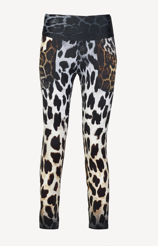 Leggings in Faded Black LeopardR13 - Anita Hass