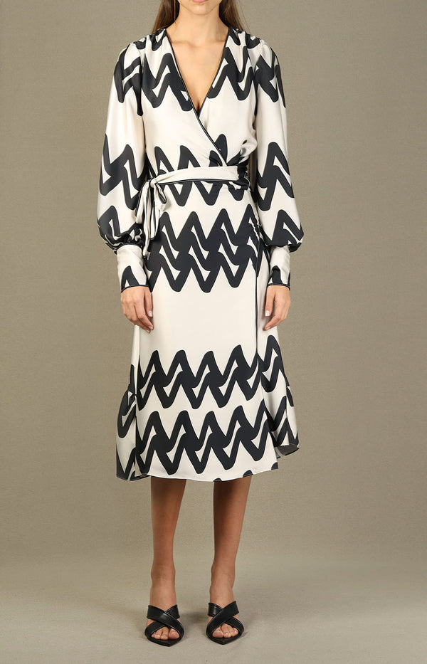 Kleid Maleko in Cream AbstractAlexis - Anita Hass