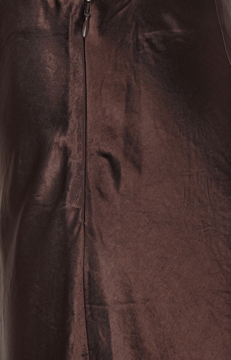 Slip Skirt in Brown StoneVince - Anita Hass