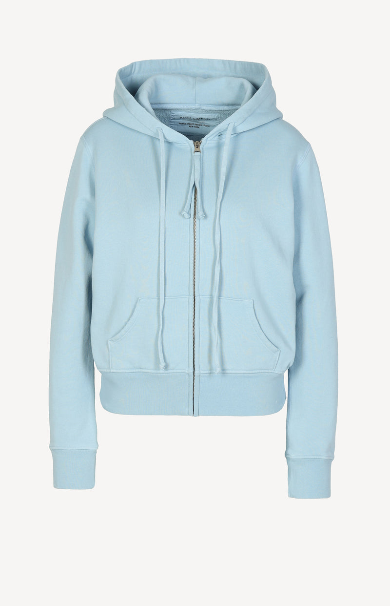 Zip Up Hoodie Callie in Light BlueNili Lotan - Anita Hass