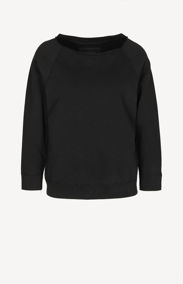 Sweatshirt Luka Scoop Neck in Washed BlackNili Lotan - Anita Hass