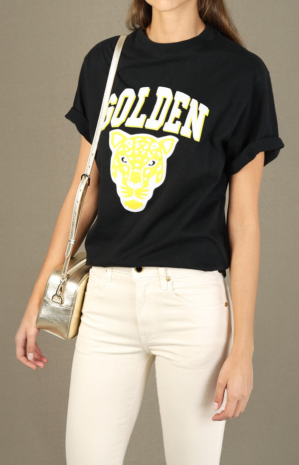 T-Shirt Golden in Schwarz/Golden TigerGolden Goose - Anita Hass