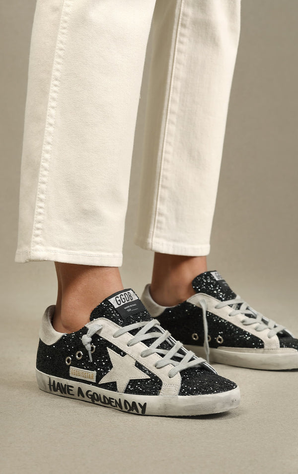 Sneaker Superstar in Green GlitterGolden Goose - Anita Hass