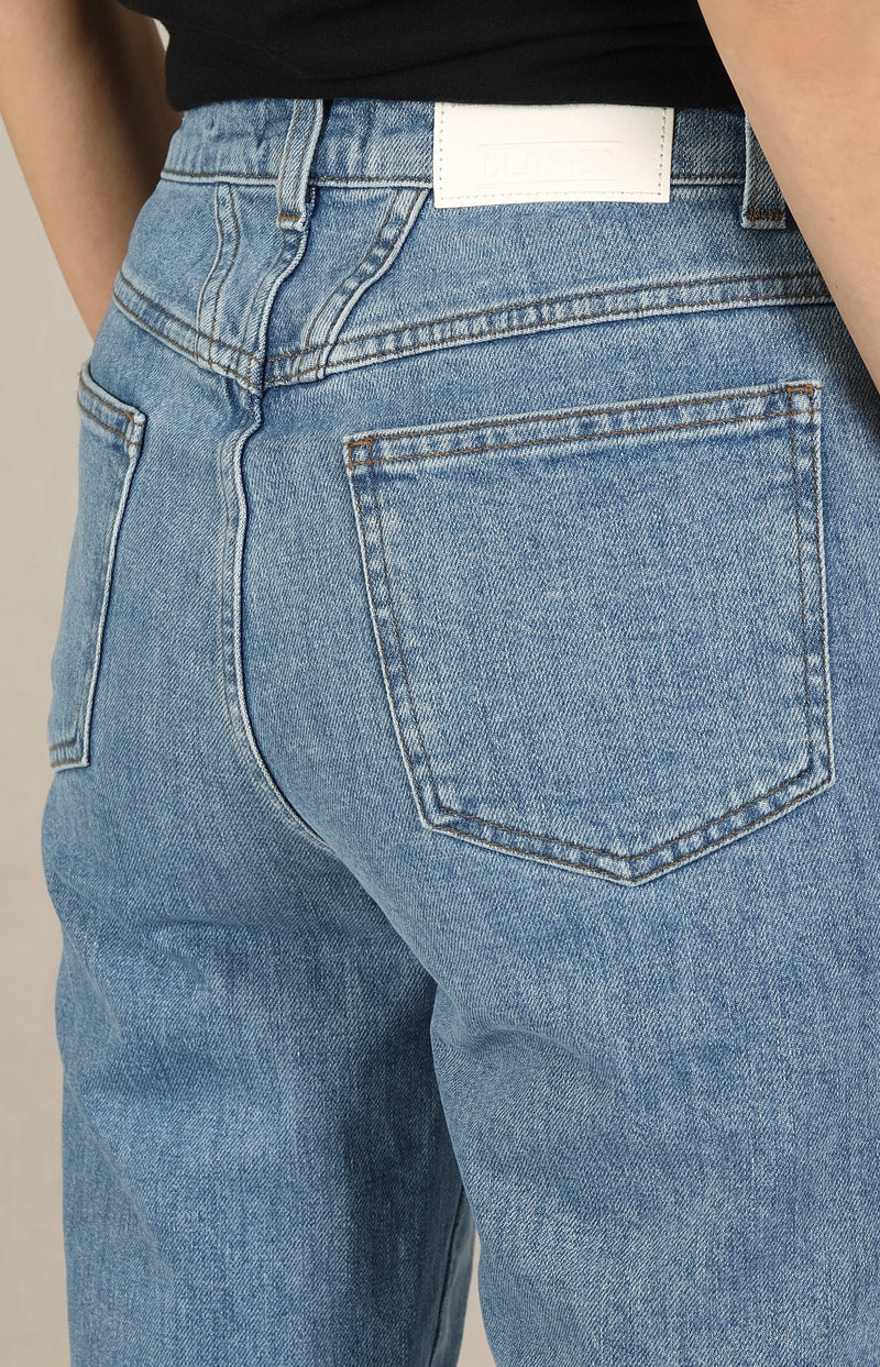 Jeans Pedal Pusher in Mid BlueClosed - Anita Hass