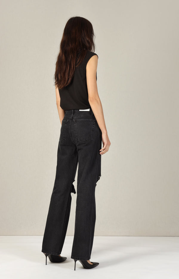Jeans High Rise Loose in Washed BlackRE/DONE - Anita Hass